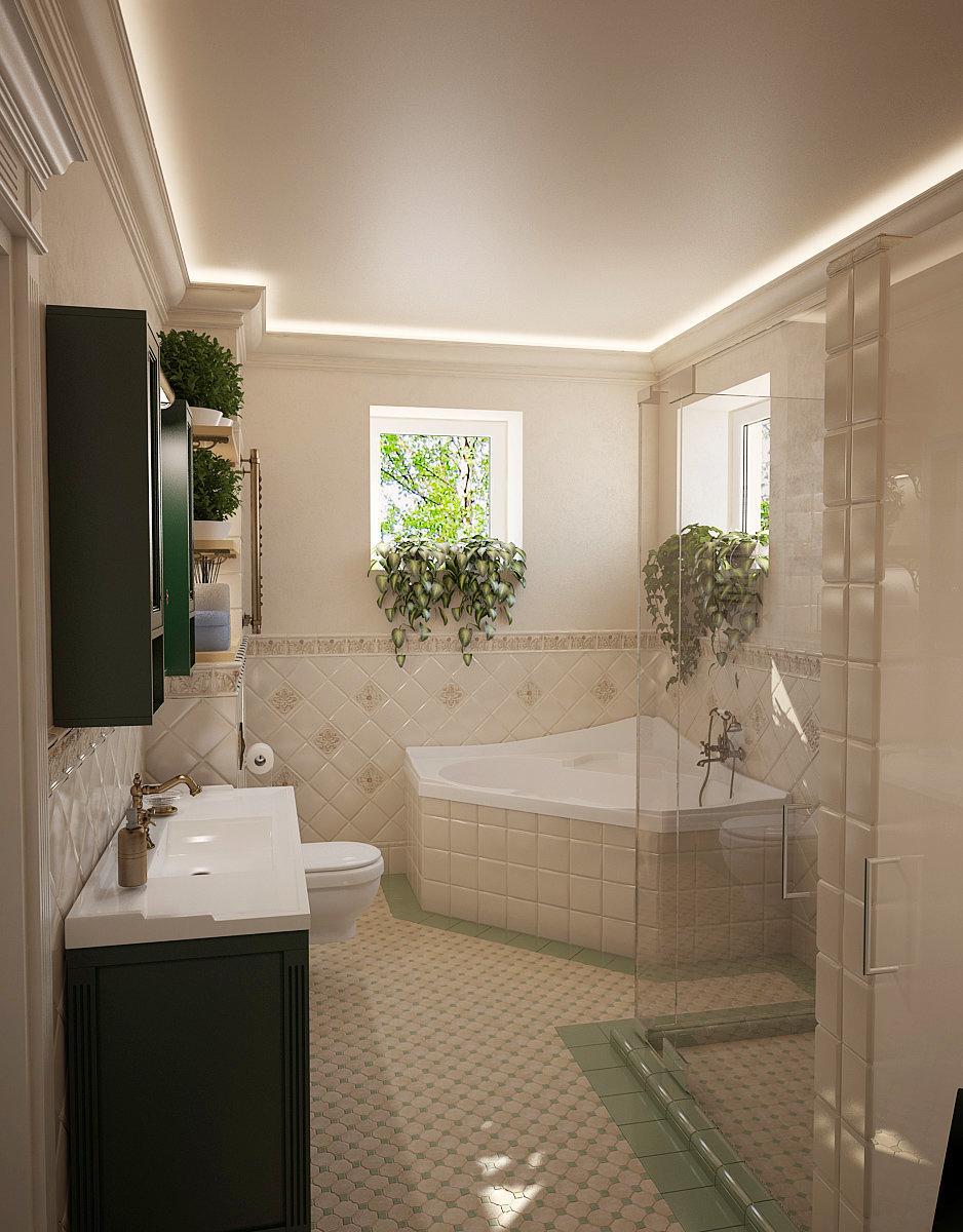 Фотография: Ванная в стиле Прованс и Кантри, Дом, Дома и квартиры, Прованс – фото на InMyRoom.ru