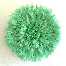 Камерунская шляпа  средняя (50 см) пастельно зеленая