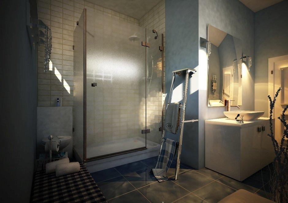 Фотография: Ванная в стиле Лофт, Дом, Дома и квартиры, Проект недели, Современное искусство – фото на InMyRoom.ru