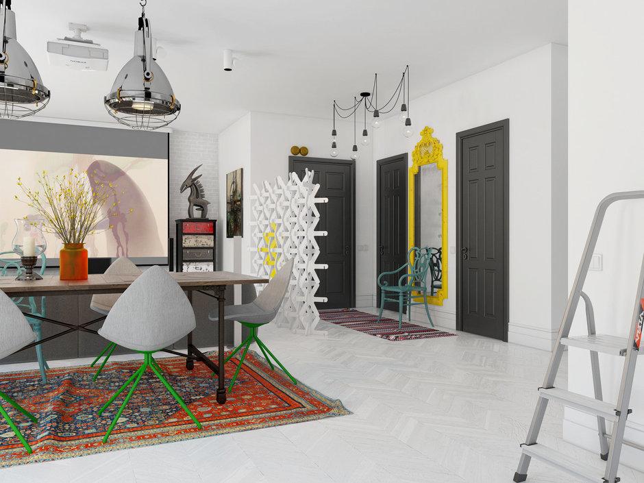 Фотография: Гостиная в стиле Хай-тек, Декор интерьера, Квартира, BoConcept, Eichholtz, Дома и квартиры, IKEA, Проект недели – фото на InMyRoom.ru
