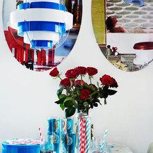 Фотография: Декор в стиле Современный, Эклектика, Малогабаритная квартира, Квартира, Дома и квартиры, Гардероб, Принт, Библиотека, Окна – фото на InMyRoom.ru
