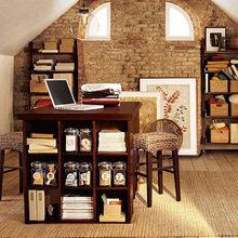 Фотография: Офис в стиле Лофт, Кабинет, Интерьер комнат, Системы хранения – фото на InMyRoom.ru