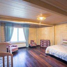 Фото из портфолио Спальня в доме из клееного бруса  – фотографии дизайна интерьеров на INMYROOM