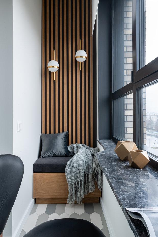 Фотография: Балкон в стиле Современный, Квартира, Проект недели, 2 комнаты, 40-60 метров, Александра Гартке – фото на INMYROOM