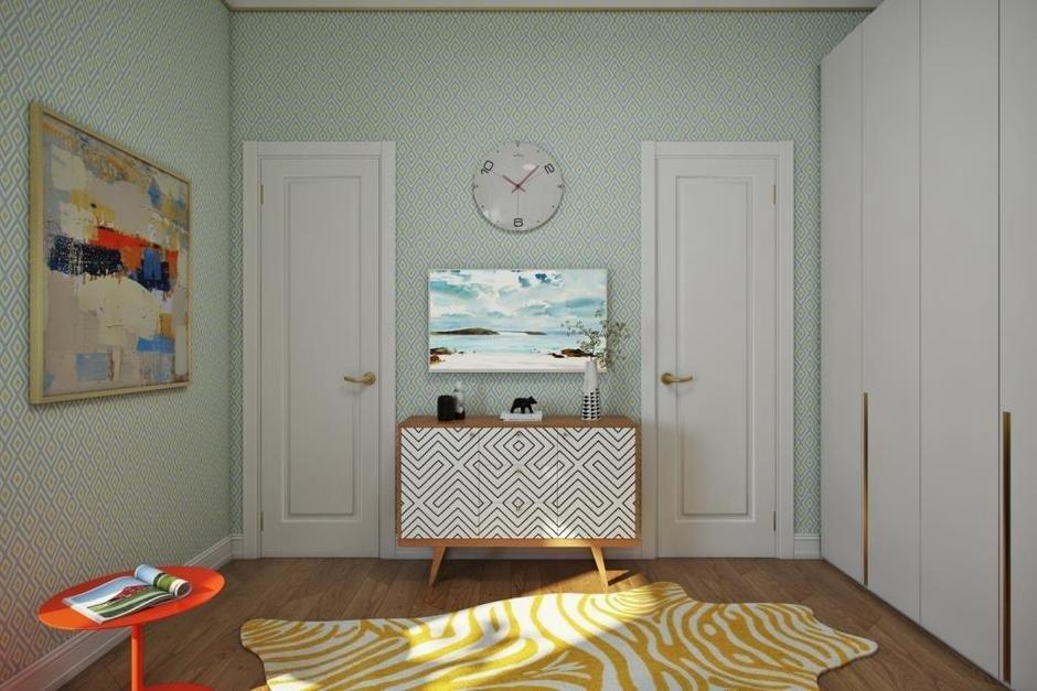 Фотография: Кабинет в стиле Современный, Квартира, Проект недели, Москва, Монолитный дом, 3 комнаты, 60-90 метров, Алена Чекалина – фото на InMyRoom.ru