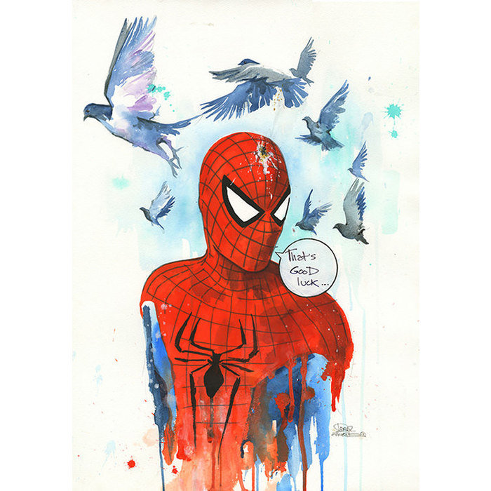 Принт Good luck spidey А2