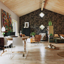 Фотография: Гостиная в стиле Восточный, Дом, Дома и квартиры, Плетеная мебель, Дом на природе – фото на InMyRoom.ru