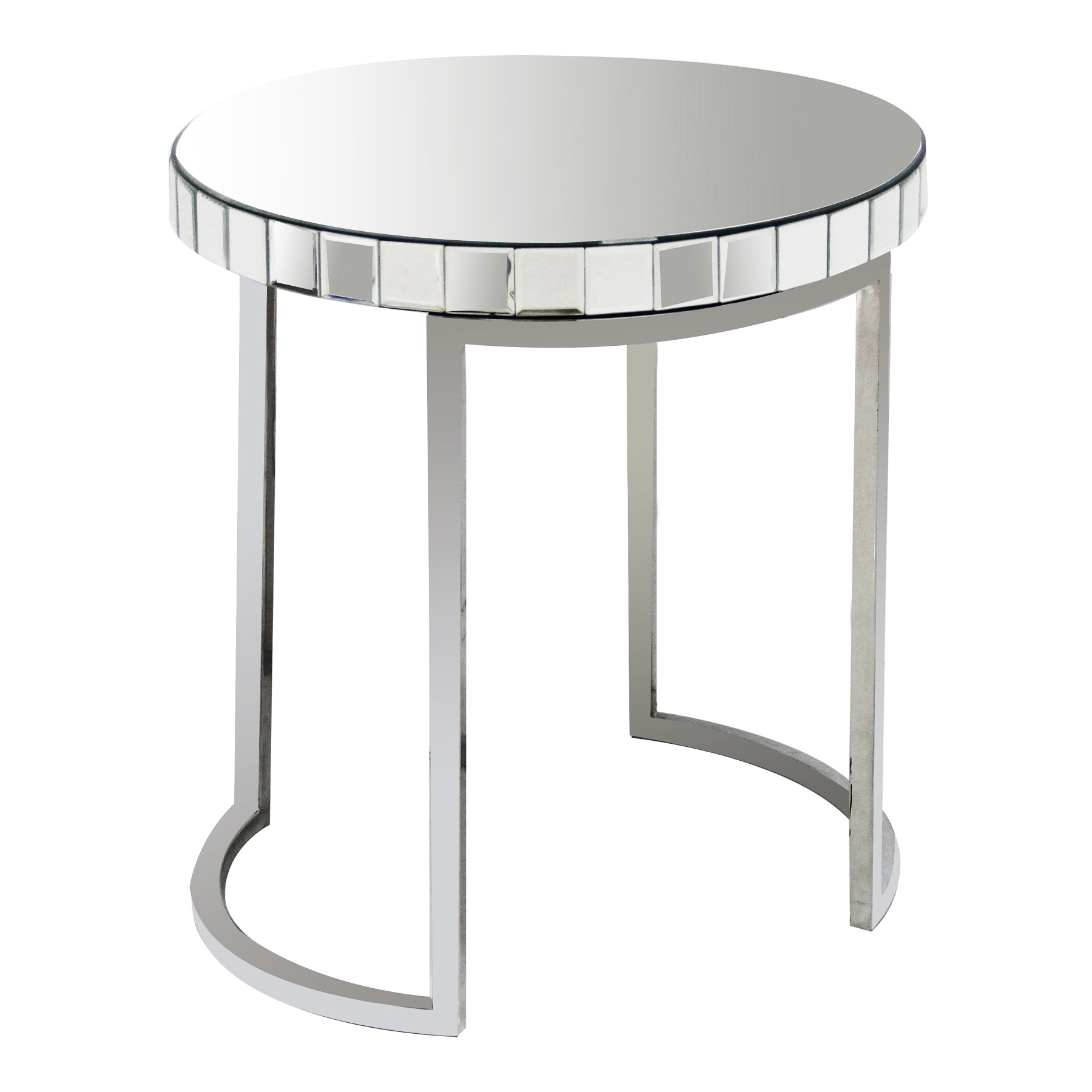 Купить со скидкой Зеркальный кофейный столик Soltanto с зеркальной столешницей