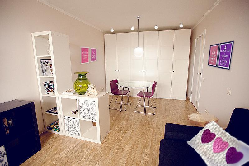 Фотография: Гостиная в стиле Современный, Малогабаритная квартира, Квартира, Дома и квартиры, IKEA, Переделка – фото на InMyRoom.ru