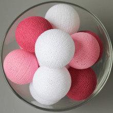 Тайская гирлянда розовая от батареек