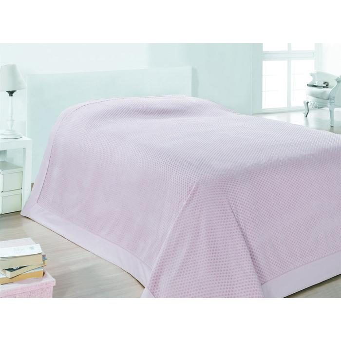 Покрывало велюровое MIXTO бледно-розовое 220х240