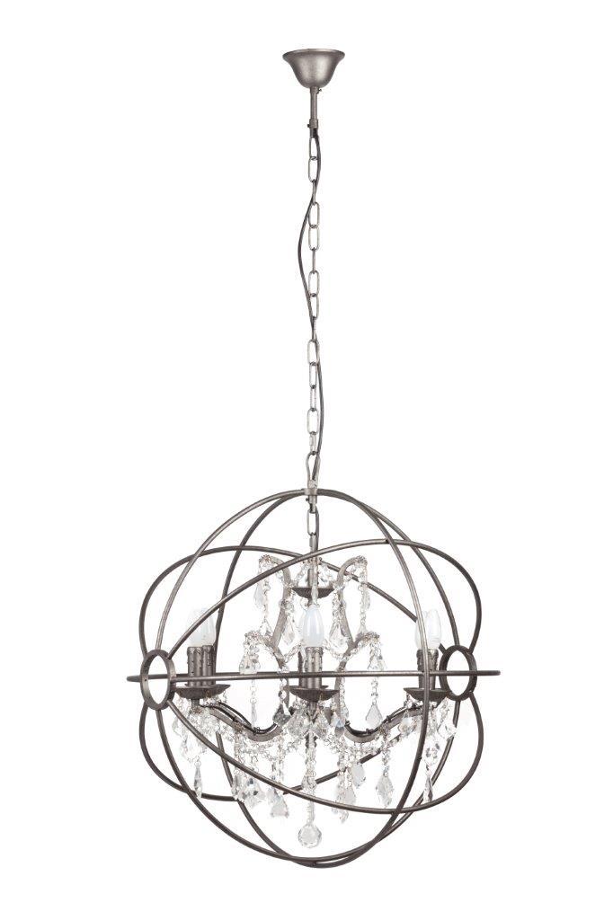 Люстра Foucault's Orb Crystal Vol с изящными хрустальными гирляндами