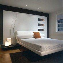 Фотография: Спальня в стиле Современный, Стиль жизни, Советы, Стена, Зеркало – фото на InMyRoom.ru