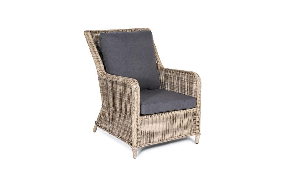 Кресло гляссе соломенного цвета