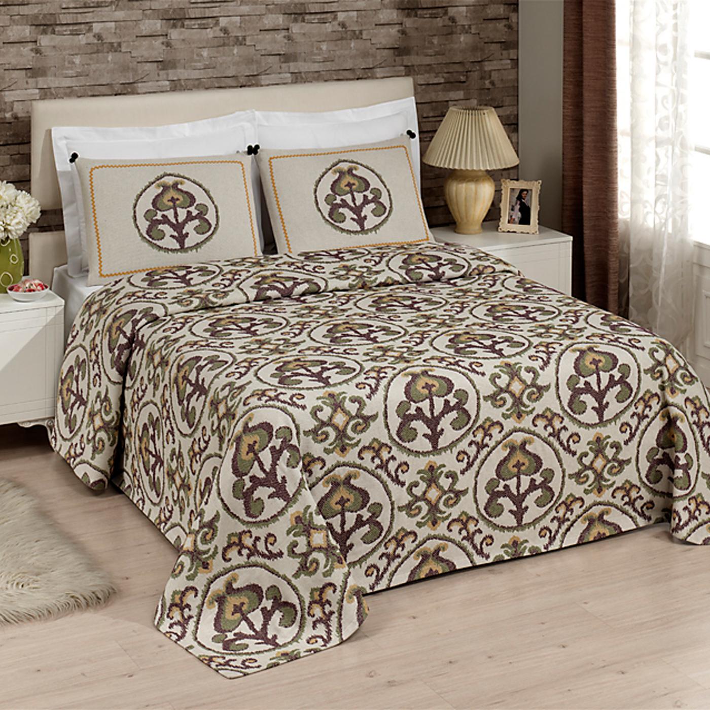 Купить Комплект постельного белья Floral Euro (покрывало + наволочки), inmyroom, Турция