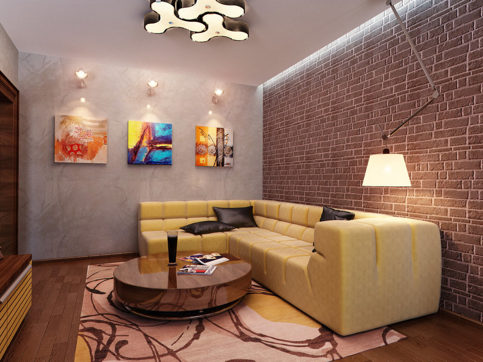 Фотография: Гостиная в стиле Лофт, Современный, Квартира, Проект недели – фото на InMyRoom.ru