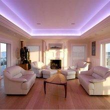 Фотография: Гостиная в стиле Современный, Интерьер комнат, Мебель и свет, Подсветка, Торшер – фото на InMyRoom.ru