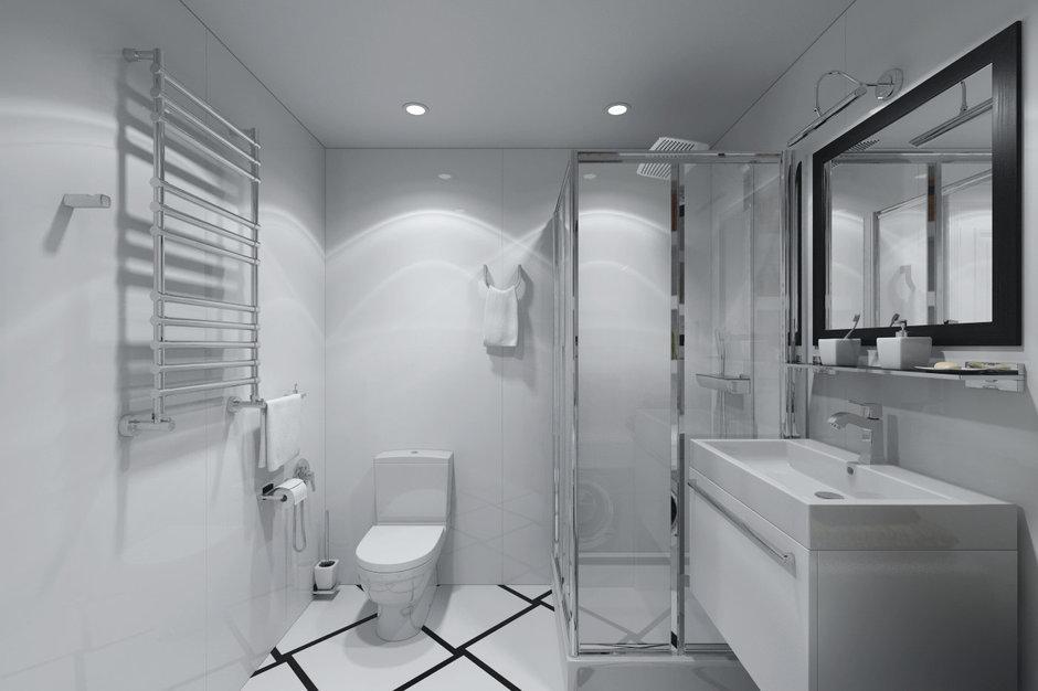 Фотография: Ванная в стиле Хай-тек, Квартира, Дома и квартиры, Проект недели – фото на InMyRoom.ru