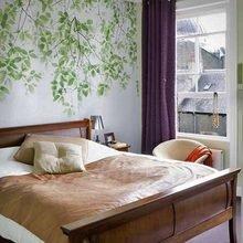 Фотография: Спальня в стиле Кантри, Декор интерьера, Декор дома, Цвет в интерьере, Обои – фото на InMyRoom.ru