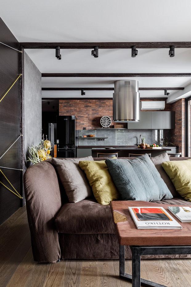 """Фото из портфолио Фото гостиной реализованного проекта квартиры, расположенной в ЖК """"Центральном"""".  – фотографии дизайна интерьеров на INMYROOM"""