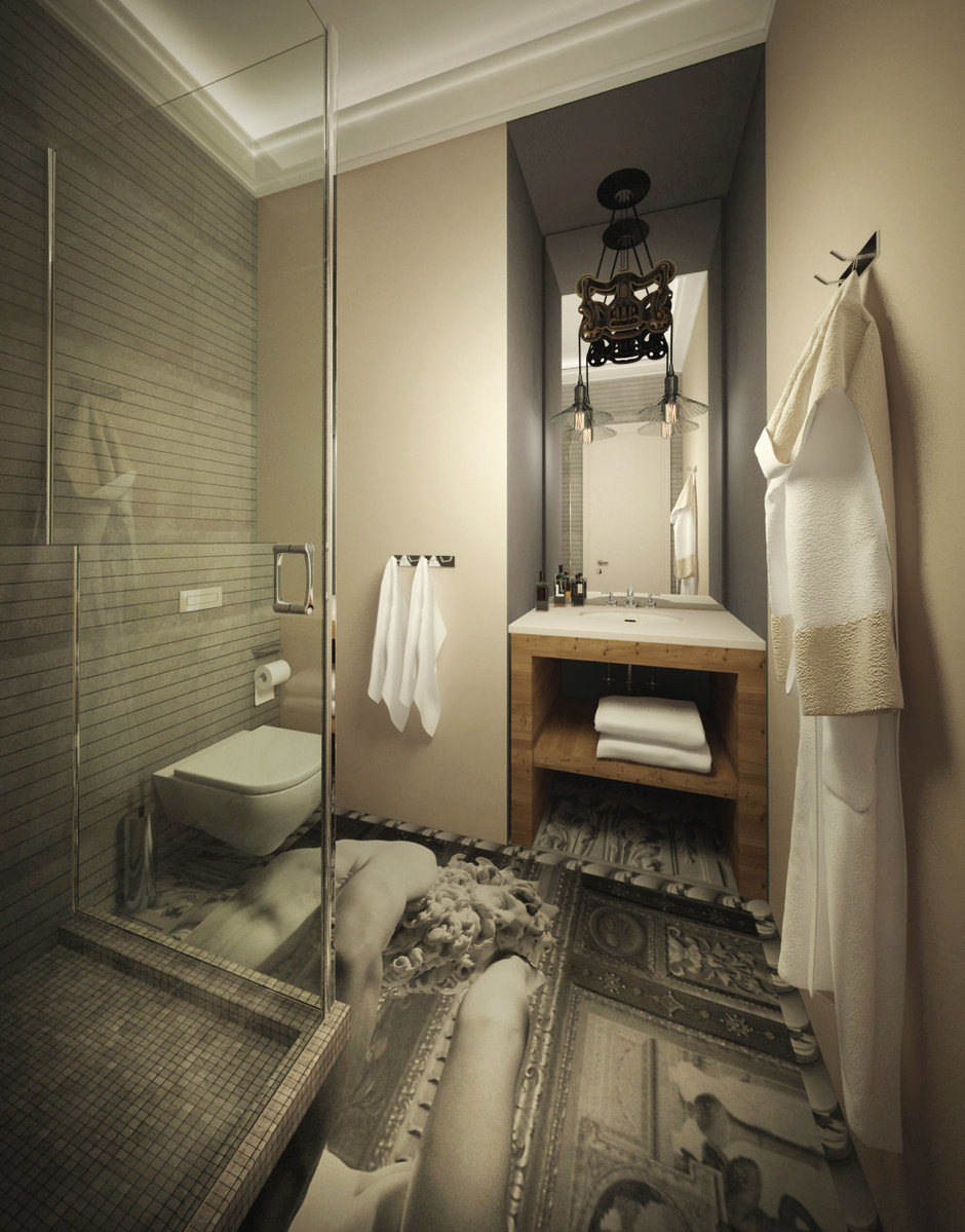 Фотография: Ванная в стиле , Квартира, Дома и квартиры, Проект недели, Переделка – фото на InMyRoom.ru
