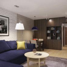 Фотография: Гостиная в стиле Современный, Квартира, Дома и квартиры, Перепланировка – фото на InMyRoom.ru