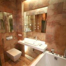 Фотография: Ванная в стиле Современный, Малогабаритная квартира, Интерьер комнат, Проект недели – фото на InMyRoom.ru