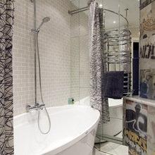 Фотография: Ванная в стиле Современный, Лофт, Малогабаритная квартира, Квартира, Дома и квартиры, Проект недели – фото на InMyRoom.ru