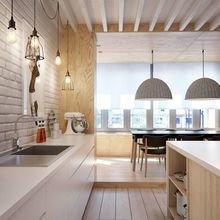 Фотография: Кухня и столовая в стиле Лофт, Скандинавский, Советы, Белый – фото на InMyRoom.ru