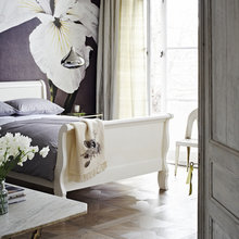 Фотография: Спальня в стиле Кантри, Кухня и столовая, Декор интерьера, Декор дома, Цвет в интерьере, Белый, Камин, Бирюзовый – фото на InMyRoom.ru