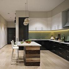 Фотография: Кухня и столовая в стиле Современный, Эко, Лофт, Квартира, Проект недели – фото на InMyRoom.ru