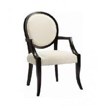 Кресло Josephine с изящным черным каркасом и белой обивкой