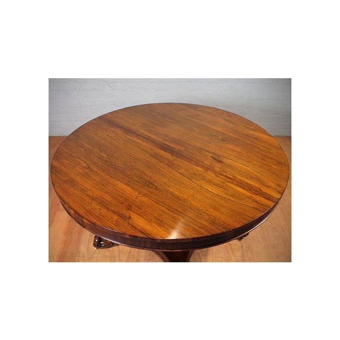 Старинный круглый обеденный стол