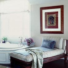 Фотография: Ванная в стиле Восточный, Эклектика, Дом, Цвет в интерьере, Дома и квартиры – фото на InMyRoom.ru