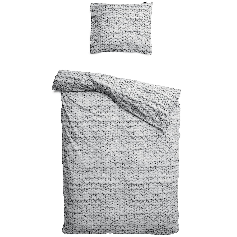 Купить Комплект постельного белья Косичка 150х220 серый фланель, inmyroom, Нидерланды