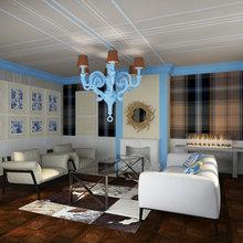 Фото из портфолио Проект гостиной в коттеджном поселке «Новогорск-7» – фотографии дизайна интерьеров на InMyRoom.ru