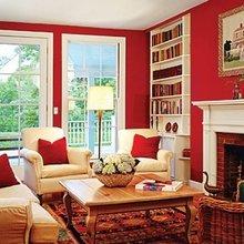 Фотография: Гостиная в стиле Классический, Современный, Декор интерьера, Дизайн интерьера, Цвет в интерьере – фото на InMyRoom.ru