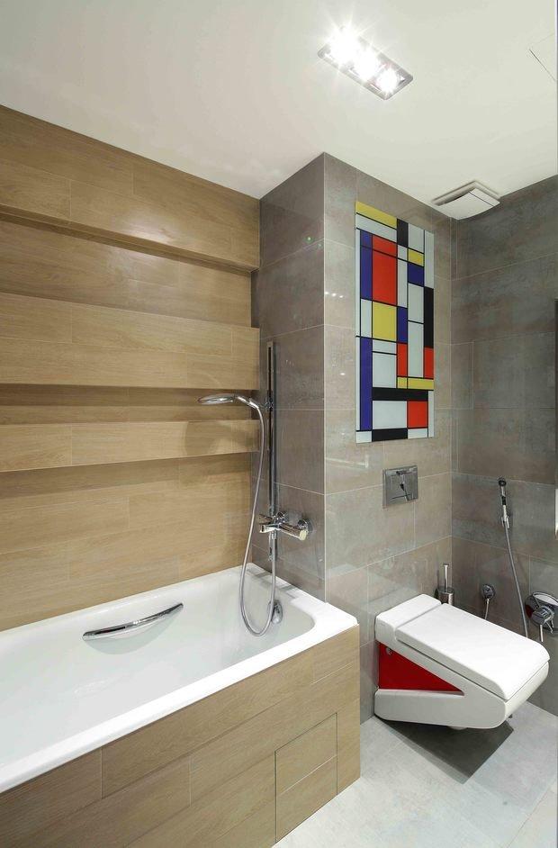 Фотография: Ванная в стиле Лофт, Современный, Эко, Эклектика, Квартира, Проект недели – фото на InMyRoom.ru