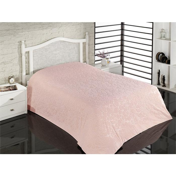 Покрывало махровое бамбуковое розовое LESLI COVER 220х240