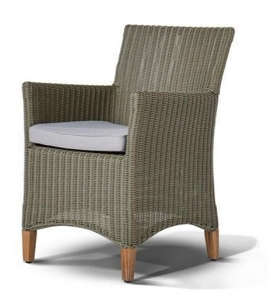 """Фото #1: Кресло """"Пестум""""  светло-серое с серой подушкой"""