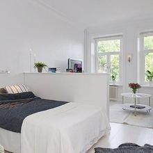 Фотография: Спальня в стиле Скандинавский, Малогабаритная квартира, Квартира, Студия, Планировки – фото на InMyRoom.ru