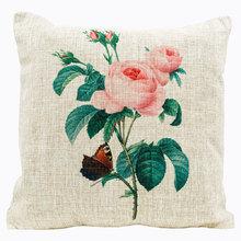 Декоративная подушка «Цветочный ноктюрн», версия 9