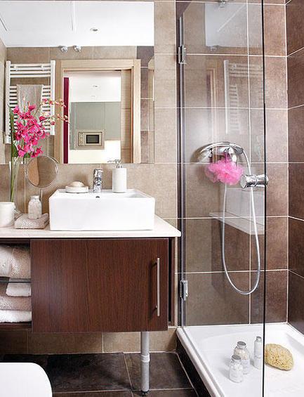 Фотография: Ванная в стиле Современный, Декор интерьера, Малогабаритная квартира, Квартира, Дома и квартиры – фото на InMyRoom.ru