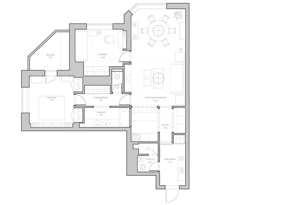 Фотография: Планировки в стиле , Квартира, Дома и квартиры, Проект недели, Москва, Неоклассика – фото на InMyRoom.ru