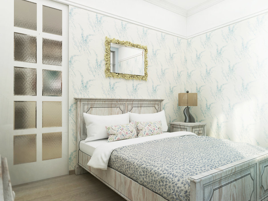 Фотография: Спальня в стиле Прованс и Кантри, Малогабаритная квартира, Квартира, Дома и квартиры, Проект недели, Москва – фото на InMyRoom.ru
