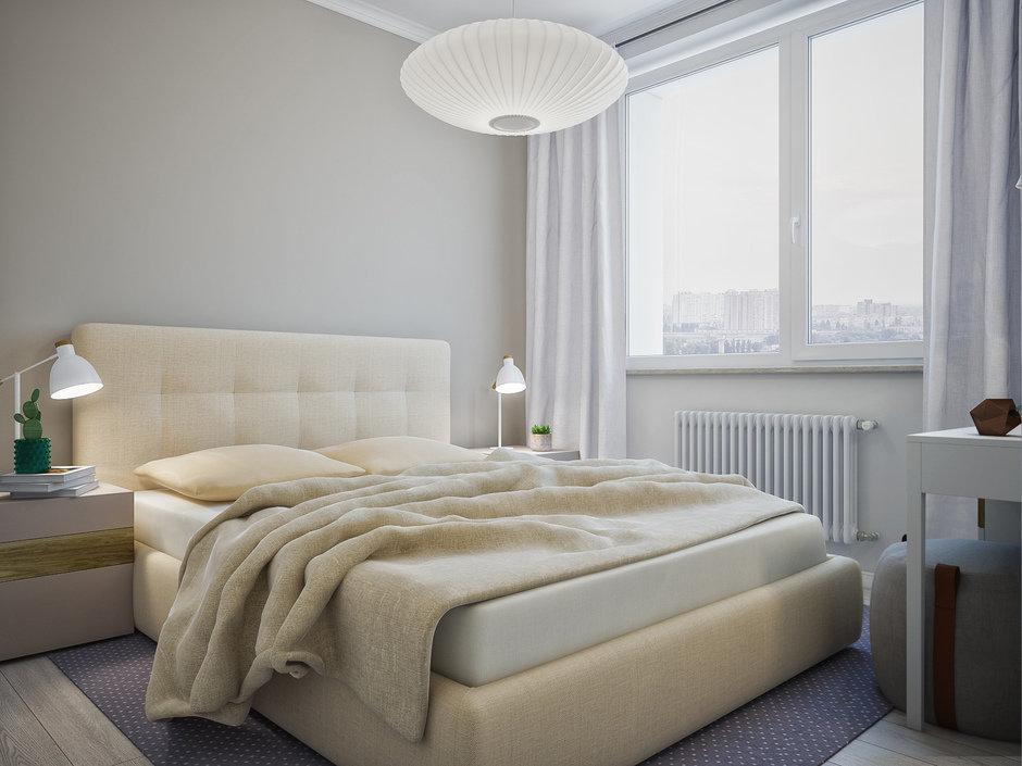 Фотография: Спальня в стиле Скандинавский, Квартира, Проект недели, Москва, 4 и больше, 60-90 метров, «Точка дизайна» – фото на InMyRoom.ru