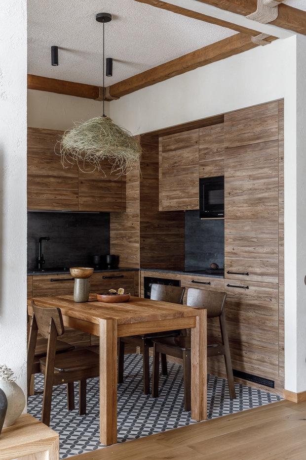Фотография: Кухня и столовая в стиле Эко, Восточный, Квартира, Проект недели, Москва, 3 комнаты, 60-90 метров, AD-Home – фото на INMYROOM