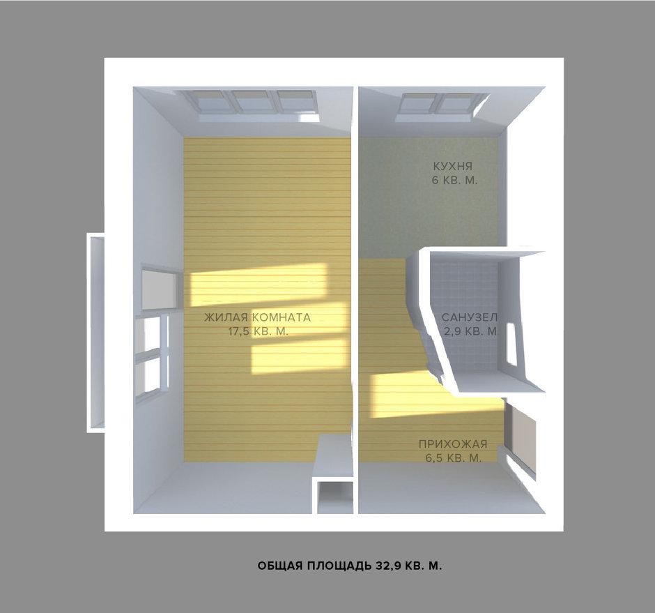 Фотография: Спальня в стиле Современный, Малогабаритная квартира, Квартира, Планировки, Перепланировка, Ремонт на практике, Ксения Чупина, перепланировка недели, идеи перепланировки однушки, перепланировка однокомнатной квартиры, как обустроить однушку, как сделать из однушки студию, перепланировка однушки в санкт-петербурге, перепланировка в хрущевке, перепланировка в брежневке, Панельный дом, 1 комната, до 40 метров, I-507 – фото на InMyRoom.ru