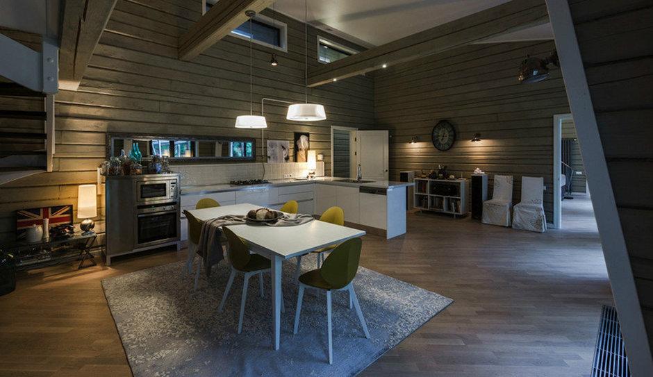 Фотография: Кухня и столовая в стиле , Дом, Дома и квартиры, Проект недели, Дача, dom-iz-brusa – фото на InMyRoom.ru