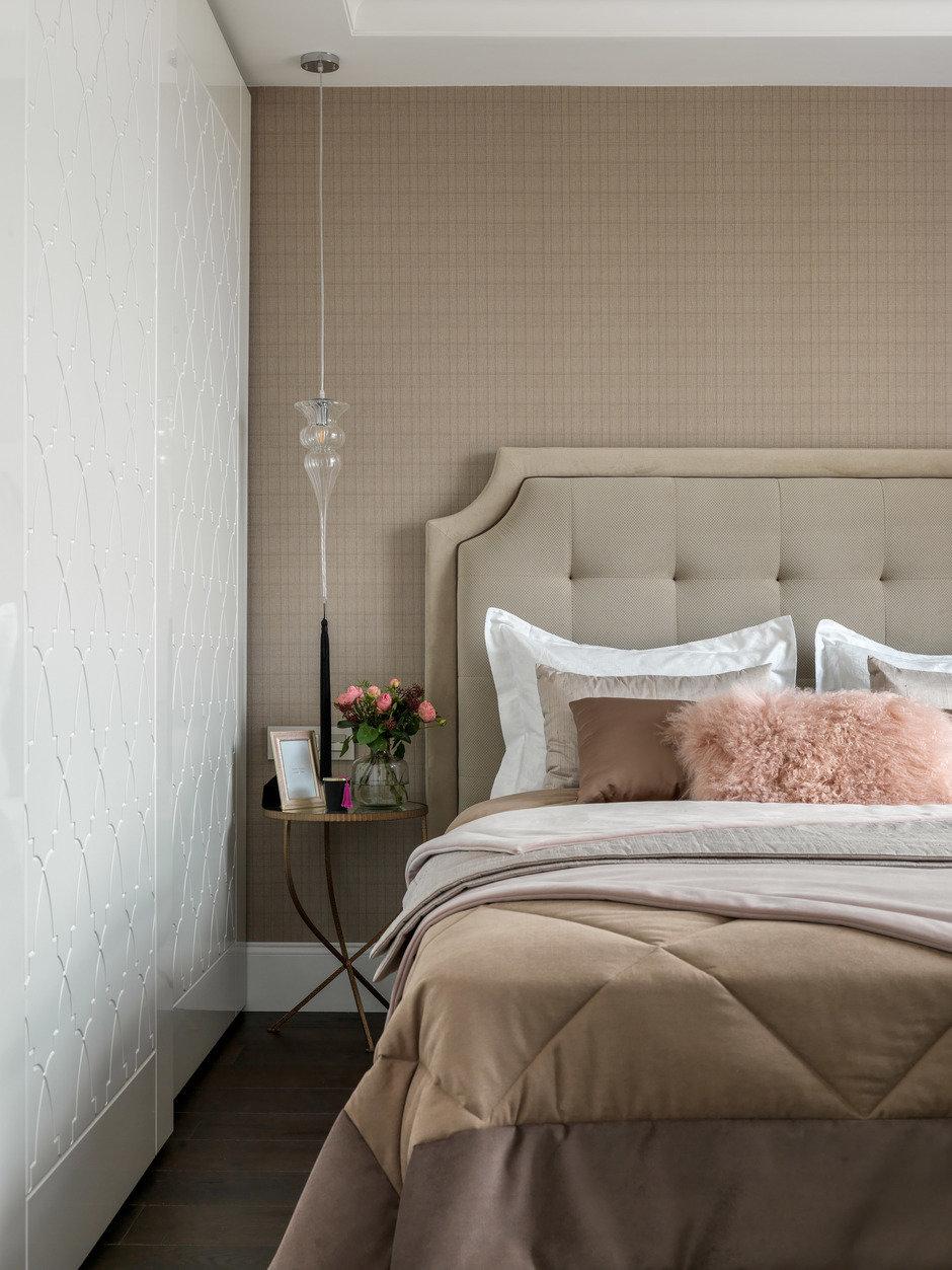 Фотография: Спальня в стиле Классический, Современный, Квартира, Проект недели, Московская область, Монолитный дом, 2 комнаты, 60-90 метров, #эксклюзивныепроекты, Simple Way, ЖК Admiral Waterhause – фото на InMyRoom.ru